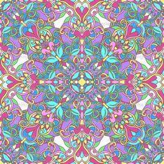 Bohemian Tile custom wallpaper by artlovepassion for sale on Spoonflower