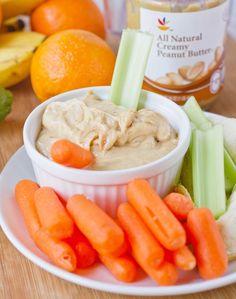 Fruity Peanut Butter Yogurt Dip Recipe ~ fruit-flavored yogurt,  peanut butter,  powdered sugar, Fruit/veggies for dipping... this recipe is totally customizable!