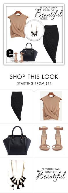 """""""Romwe 5/IV"""" by nermina-okanovic ❤ liked on Polyvore featuring Gianvito Rossi, WALL and romwe"""