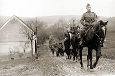 The U.S. Cavalry in Belgium, during World War I. International Museum of the Horse.