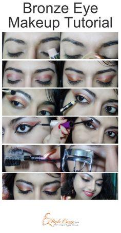 Best Bronze Eye Makeup Tutorial