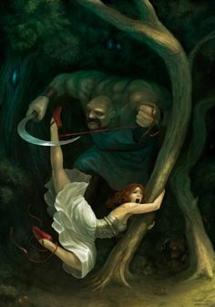 Awesome Tribute to Hans Christian Andersen( Hans Cristian Andersen was born in Denmark on April 2nd, 1905.)   The Red Shoes by Alejandro Dini aka. Aledin