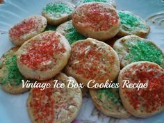 A Vintage, Old-Fashioned Ice Box Cookie Family Recipe With Step-By-Step Photos