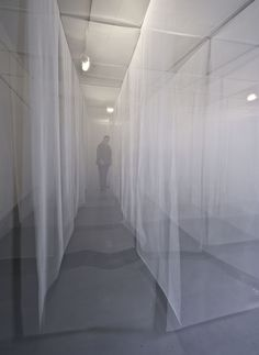 Pia Männikkö: Verges, 2011, grid of tulle