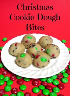 Christmas Cookie Dough Bites- Quick to make and so delicious!