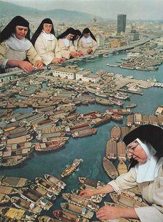 Yo quería ser monja cuando chica. Quizás para hacer algo como esto.