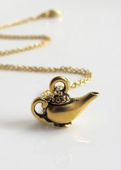 Aladdin Lamp 3 Dimensional 22kt GOLD plated Lead Free