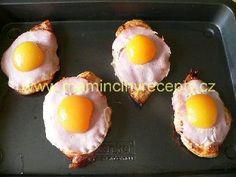 Kuřecí plátek s meruňkou – Maminčiny recepty Eggs, Breakfast, Food, Morning Coffee, Essen, Egg, Meals, Yemek, Egg As Food