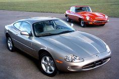 1996 Jaguar XK8 with E-type