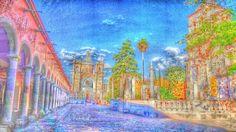 Al costado izquiero El Parian, Al Frente El Templo De San Jose, y al costado Derecho, La Parroquia De San Francisco De Asis