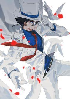 Twitter Conan Comics, Detektif Conan, Magic Kaito, Fan Anime, Anime Art, Detective Conan Shinichi, Kaito Kuroba, Best Anime Shows, Detective Conan Wallpapers