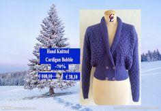 Hand Knitted sweater Women bobble in Purple by Giezen on Etsy, $45.00