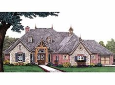 New American House Plan with 2903 Square Feet and 4 Bedrooms from Dream Home Source   House Plan Code DHSW67575