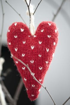 <3  Cute heart Norwegian-looking ornament made from a recycled sweater.