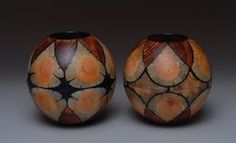 Segmented vases by Gianfranco Angelino.