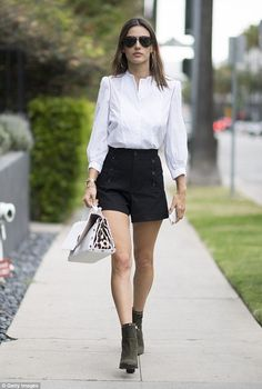 ETOILE ISABEL MARANT Maud cotton-twill sailor shorts As seen on Celebrity new