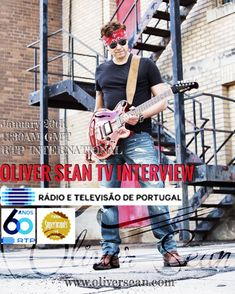 Oliver Sean interview on 20th January @11:30AM (London/Lisbon Time) on RTP International WORLDWIDE Broadcast #lusomusicbox #rtpinternacional #oliversean #devilinbluejeans #firstmove #twitter