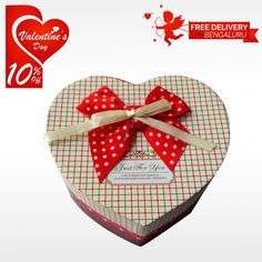 Adore the cuteness of dear one by gifting him or her Wonderful Heart Shaped Chocolate Box on this #Valentine's #Day.  #BringHomeFestival