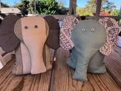 Elephant doorstops make a great gift. Available from Lisa's Blocks (Lisa Buhr)