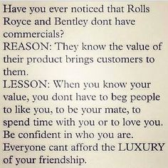 Do you know your value!