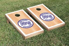 Hard Court w/ Border High Point University Panthers Cornhole Game Set
