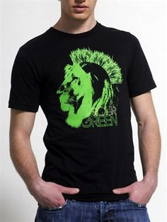 "Sometimes you've got to be shout to be heard, and nothing ""Roars Green"" quite like a lion with a grass mohawk. This shirt makes a passionate statement and doesn't apologize for it. Then again, who would apologize for making the world a better place? Like A Lion, Grab Bags, Throwback Thursday, Men's Clothing, Grass, Graphic Tees, Vintage Fashion, Shirts, Herb"
