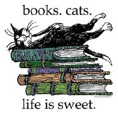 Illustration from Edward Gorey American writer and artist noted for his illustrated books. I Love Books, Books To Read, My Books, Crazy Cat Lady, Crazy Cats, Gato Animal, Lectures, Book Themes, Book Nooks
