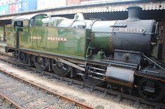 GWR Class 4200 No 4277 Hercules 2-8-0T on Paignton Kingswear Steam Railway. Photo by Martin Stone