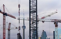 Federal budget Conservatives invest billions over a decade in renewed infrastructure deal for Canadian cities (Bernard Weil/Toronto Star) Toronto Condo, Federal Budget, Star Photography, Toronto Star, Western World, Ciel, Cn Tower, 10 Years, Budgeting