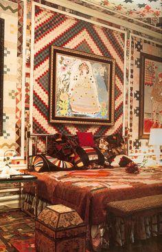 Gloria Vanderbilt home. Photo by Horst - Vogue UK June 1970