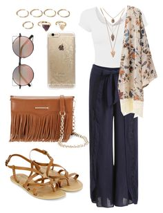 """Boho Chic!"" by designer01kitty on Polyvore featuring Accessorize, Rebecca Minkoff, Rifle Paper Co, Linda Farrow, Pamela Love and Forever 21"