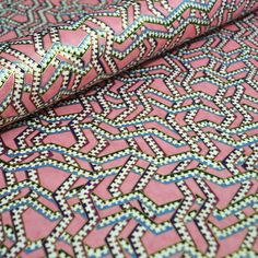 18 x 12 Japanese Chiyogami Paper Pink Zigzag by PaperTreeNook