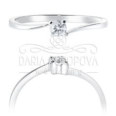 Кольцо артикул W. 1.51.014  Вес – 1,2 гр. Металл - золото Камень - бриллиант  Примерная  каратность: 0,1 ct (диаметр: 3.0 мм) Характеристики: 3\6 А   Полная коллекция украшений размещена на dariawedding.ru Engagement Rings, Wedding, Jewelry, Valentines Day Weddings, Jewellery Making, Wedding Rings, Jewerly, Jewelery, Commitment Rings