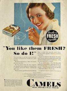Camel Cigarettes Ad.
