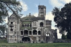 Known as the Castle of Dona Chica this residence sits empty in Braga, northern Portugal. The stunning design is the work of Swiss architect Ernesto Korrodi, who started the Neo-romanticism project in 1915 and finished in 1919
