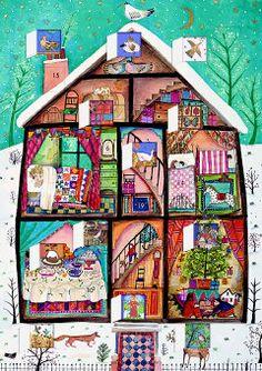 Roger la Borde | Advent Calendar Card by Jane Ray