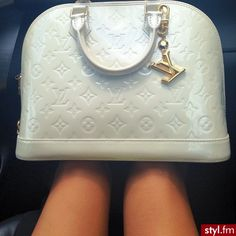 c8e6301a53 White and glossy Louis Vuitton oh so expensive oh so worth it Lv Handbags,  Louis