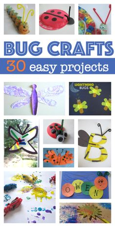 30 Bug Crafts For Kids is part of Bug Crafts And Activities For Kids Buggy And Buddy - Welcome spring with 30 fun and easy bug crafts for kids Insect Activities, Craft Activities For Kids, Projects For Kids, Craft Projects, Crafts For Kids, Arts And Crafts, Kids Math, Preschool Projects, Classroom Crafts
