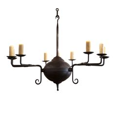 Brown-hand-forged-iron-mercer-chandelier-lighting-ceiling-cast-iron-rustic