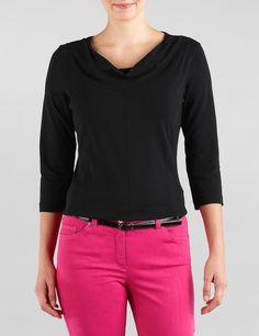 Elegantes 3/4 Arm Shirt,schwarz