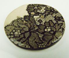 lace-printed ceramic button