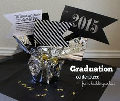 Seminary graduation centerpiece