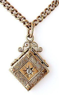 Victorian gold  diamond locket