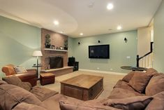 basement paint color schemes   Brightening Up A Basement Space With Only Paint