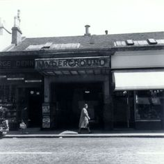The entrance to the Glasgow Underground's Hillhead Station in Byres Road, 1962.  The station entrance was located in a row of shops. It was rebuilt during the renovation of the Underground in 1977-1980.  Reproduced with the permission of Glasgow City Council, Glasgow Museums Glasgow Museum, Glasgow City, Glasgow Subway, City Council, The Row, Entrance, Scotland, Past, Gcse Art