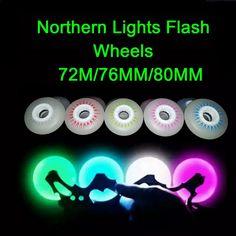 4 Piece 90A 72/76/80mm Flash Skate Wheels PU Freestyle Slalom Inline Roller Skates Rodas Bright Led Skating Wheel Sliding FSK