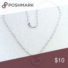 """Personalized stainless steel necklace! 12"""" A beautiful shiny stainless steel heart hand stamped with your choice of name (up to 10 characters).   ♥ No rusting or turning colors. Your custom piece will always stay shiny silver color ! Jewelry Necklaces"""
