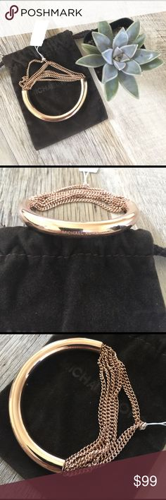 Michael Kors Gold Chain Bracelet Rose gold seven chain bracelet. Comes with dust bag. Michael Kors Jewelry Bracelets