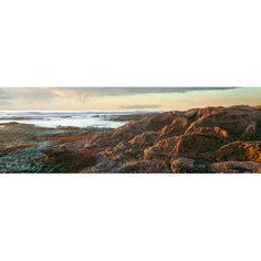 Low tide at coast during sunset Birdrock La Jolla San Diego County California USA Canvas Art - Panoramic Images (27 x 9)