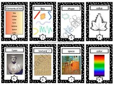 Elements of Art Cards from Common Core and More! on TeachersNotebook.com -  (8 pages)  - This is a set of 8 elements of art trading cards that you can use with your students when teaching art. I created them to look like trading cards and my students LOVE using them.